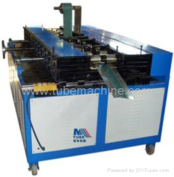 Flexible duct connector machine 1
