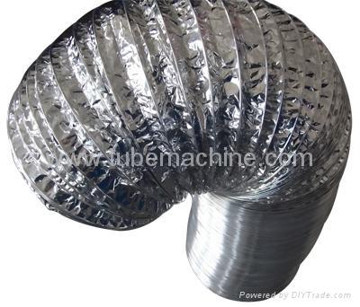 Aluminum Foil wire round Flexible duct machine 1
