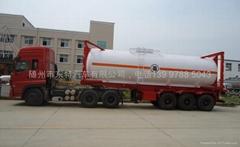 30英尺化工液体防腐罐式集装箱