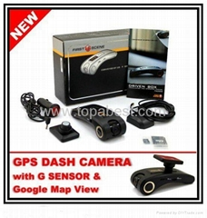 Auto Car Blackbox GPS Dash Camera Car Black Box FS2000 Car Cam DVR Vehicle Recor