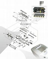 Toner, OPC Drum, Chip, Wiper Blade, Fuser Roller for Lexmark T650/652/654/656