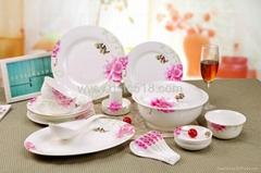 高白瓷餐具