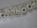 Flute B Foot-Open Hole-Split-E-offset-G-Si  er Plated Carve Patterns on Keys