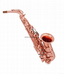 NEW Professional Eb Alto Saxophone Rose Gold Plated