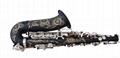 NEW Professional Eb Saxophone Matte Black Sax High F# Abalone Shell Key 3