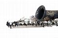 NEW Professional Eb Saxophone Matte Black Sax High F# Abalone Shell Key 4