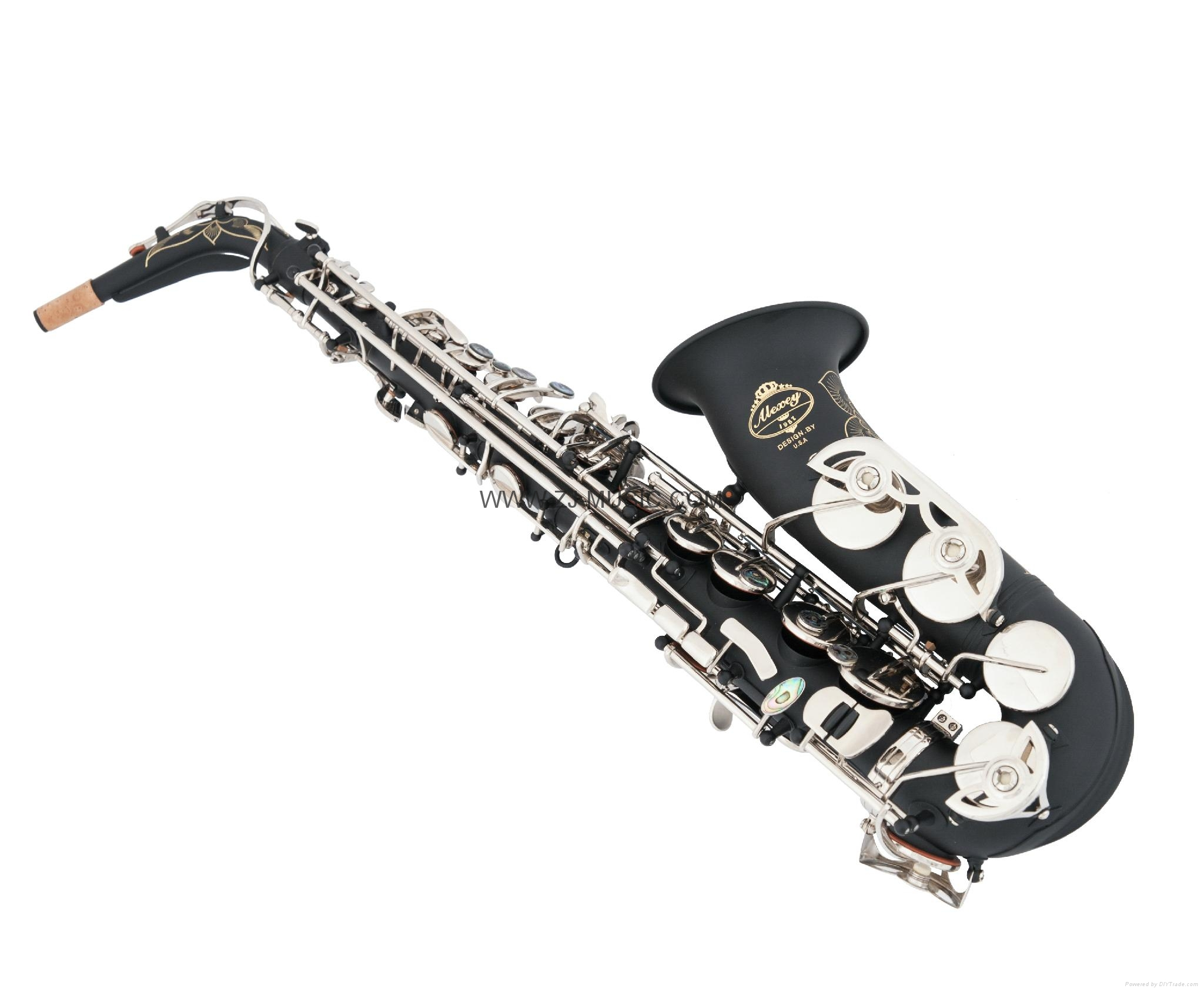NEW Professional Eb Saxophone Matte Black Sax High F# Abalone Shell Key 1