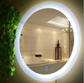 5mm Customized Size Round Iiiuminated LED Bathroom Mirror 1
