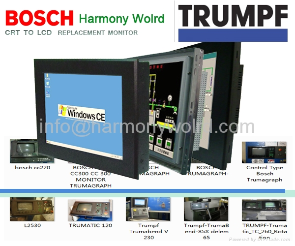 LCD Monitor For BOSCH CC 220 s BOSCH CC220 TRUMATIC Trumpf Trumagraph Punches 1
