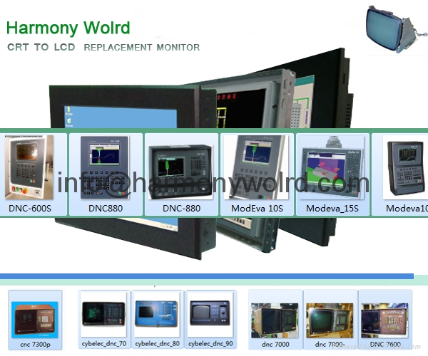 TFT Monitor For CYBELEC CNC/DNC 30/34/60/64/70/74/80/90/94/98/ DNC 600S/7000/730 1