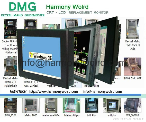 8.4″ TFT LCD monitor is a replacement for Deckel Contour 1/2/3 Dialog 1/2/3/4  1