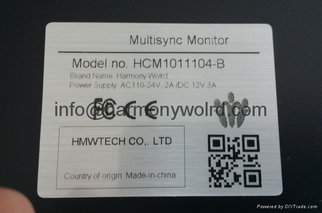 """TFT Monitor for Hurco Z-AXIS CRT Monitor V212AM014 12"""" monochrome  3"""
