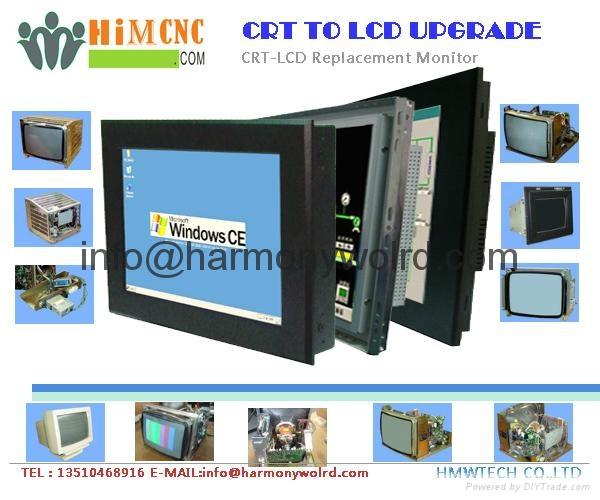 Upgrade SAMSUNG monitor 12HBYLAN CM4531 TCM-1448A1  TCM-1448G to LCDs  9