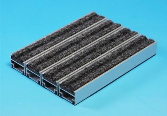 镶嵌式高档进口比利时灰色 3m 菠萝纹铝合金防尘除尘地垫地毯 1