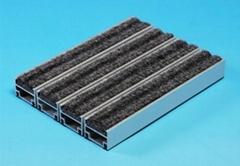 镶嵌式高档进口比利时灰色 3m 菠萝纹铝合金防尘除尘地垫地毯