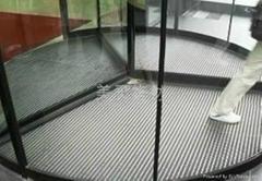 旋转门铝合金地垫 自动门防尘除尘刮泥地毯 井位安全地垫