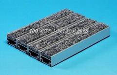 互扣式鋁合金地墊 鋼絲繩連接式地墊 凹槽坑放除塵防塵刮泥地墊