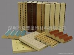 踏普建材木质槽孔吸音板