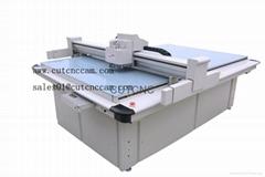 Corrugated flute card paper foam sample cutting machine