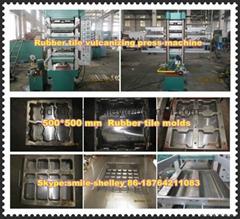 Rubber  tile  vulcanizing machine