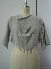 small cashmere poncho sweater