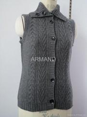 cable cashmere vest