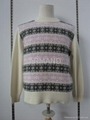 jacquard cashmere pullover sweater