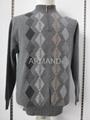 Argyle cashmere pullover sweater