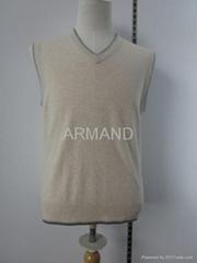 v neck cashmere vest sweater