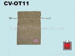 Jute string-drawn bag