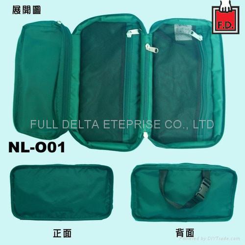 尼龍盥洗手提收納袋