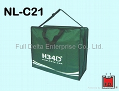 Nylon shopping bag with zipper