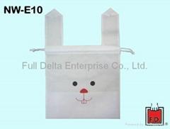 Drawn-string non-woven bag