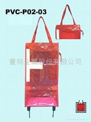 PVC Foldable Trolley bag / gift bag