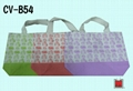Canvas shopping bag with bottom gusset