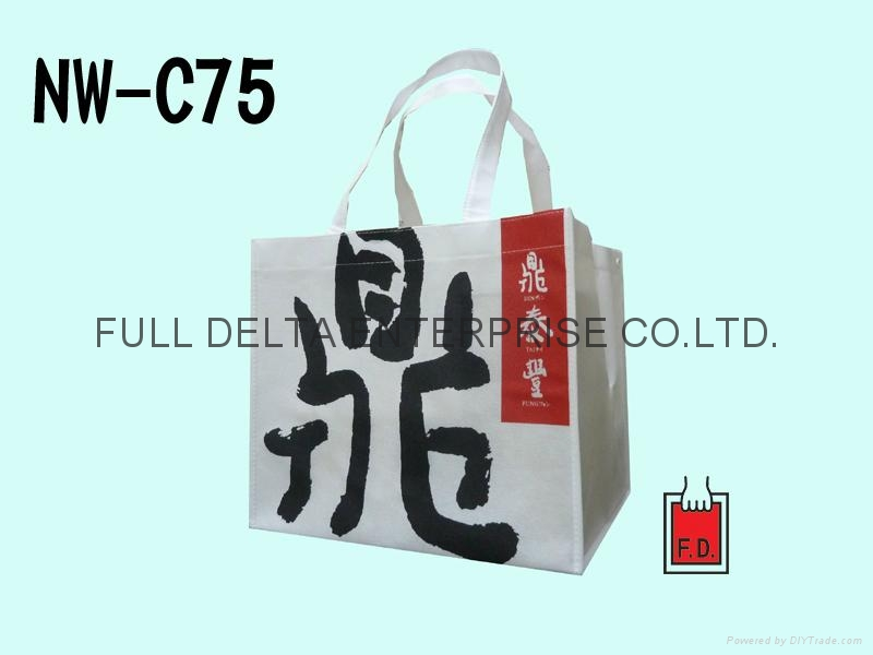 不織布立體環保袋(餐飲業)