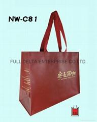 不織布立體環保購物袋 (食品購物網站業者)