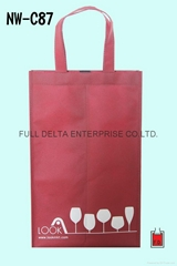 不织布立体环保购物袋/分隔酒袋