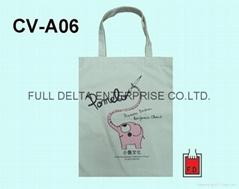 Flatten canvas shopping bag