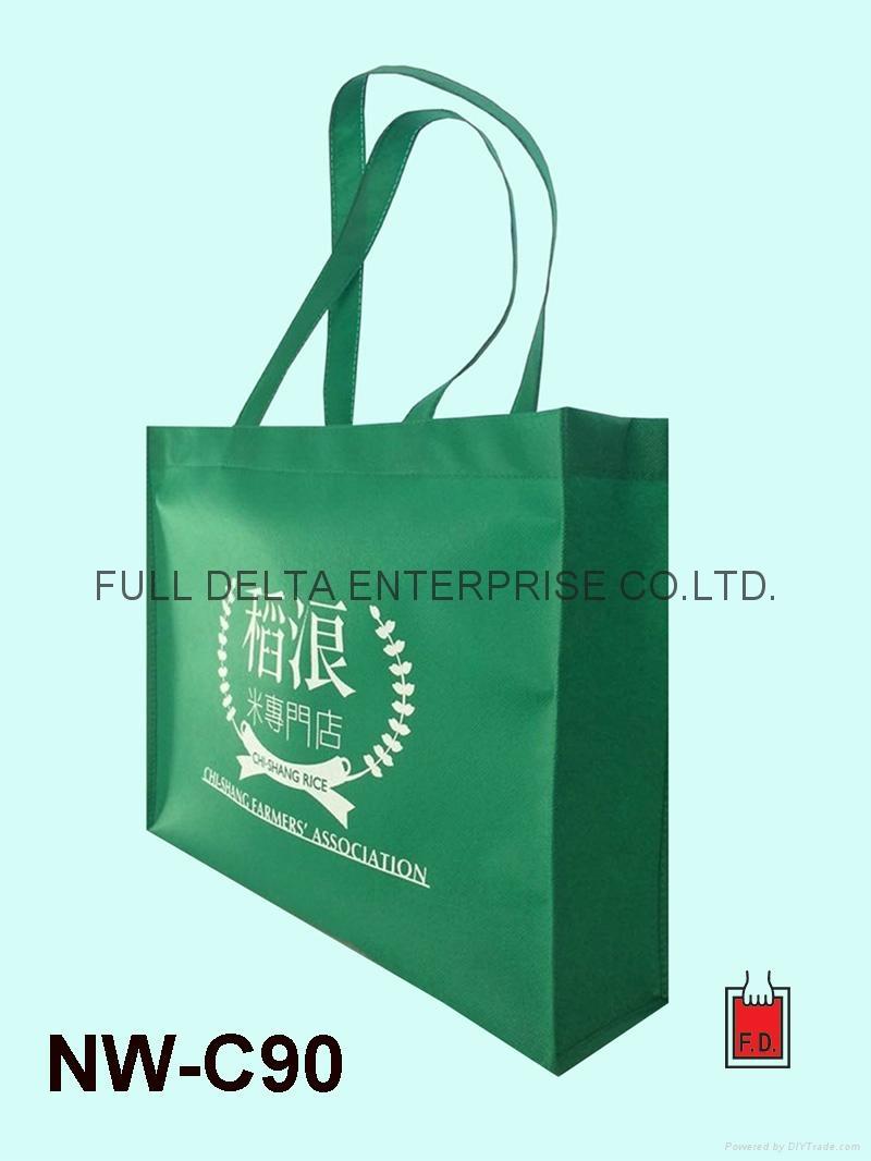 不織布立體型環保袋/贈禮品袋(農會) 1