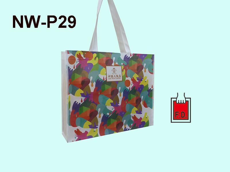 彩色印刷不織布購物環保袋(飯店業者) 1