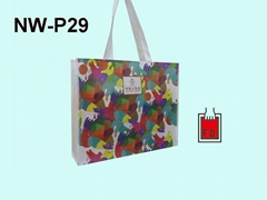 彩色印刷不织布购物环保袋(饭店业者)