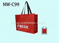 不織布立體型環保購物袋(漁會)
