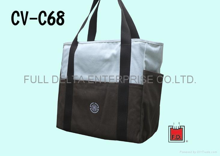 帆布两色拼接环保袋(水泥公会)