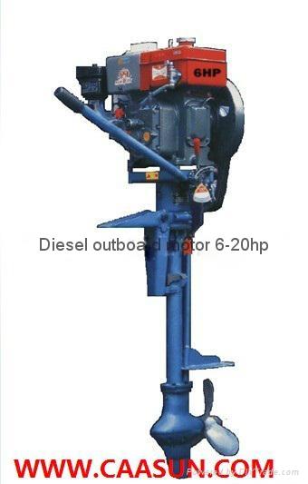 Diesel outboard motor