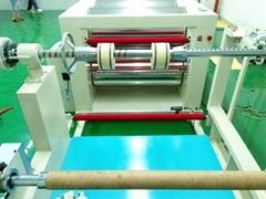 PVC/PET塑料卷材自动整平切片机