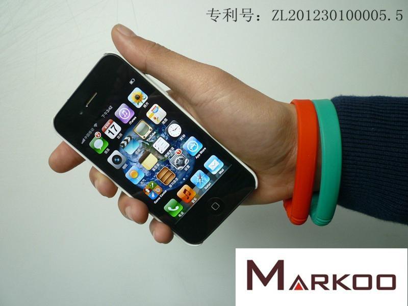 手環電容筆 硅膠手環觸控筆 觸屏筆手環 1