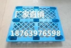 仓库防潮板单面九脚塑料托盘1210