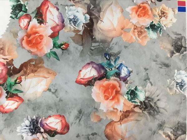 digital  printing Royan 100%  polyester fabric  3