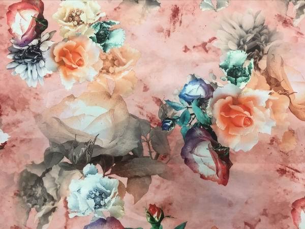 digital  printing Royan 100%  polyester fabric  4